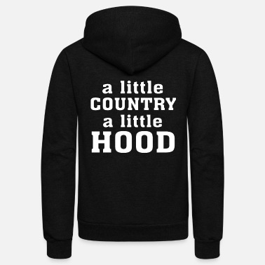 Ghetto Hood - A little Country A little Hood - Unisex Fleece Zip Hoodie
