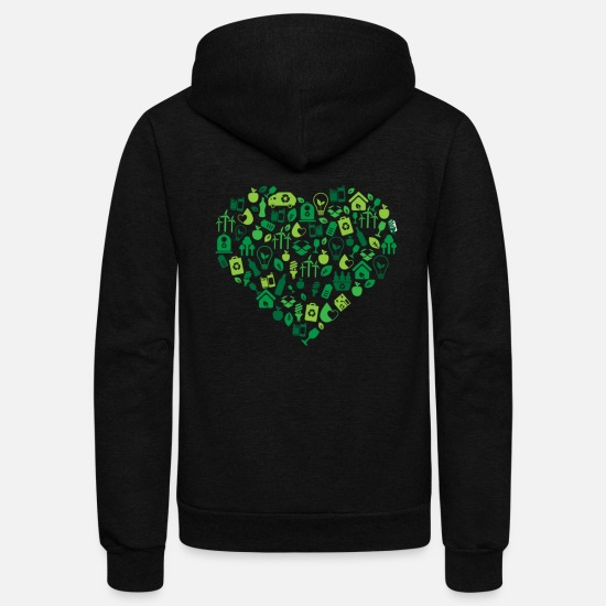 Recycle Hoodies & Sweatshirts - recycle - Unisex Fleece Zip Hoodie black