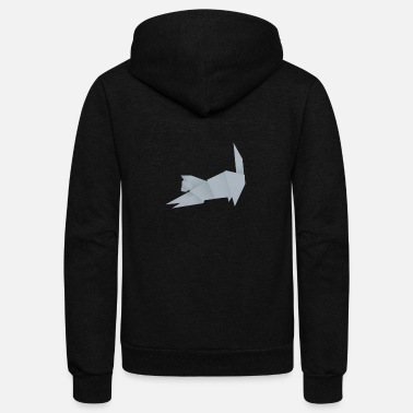 Origami Origami Cat - Unisex Fleece Zip Hoodie