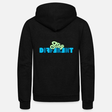 Be Different - Unisex Fleece Zip Hoodie