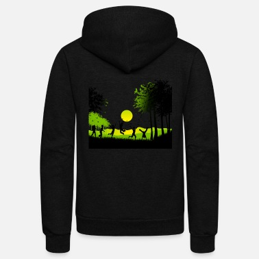 Happy Childrens Day Happy children nature butterfly tree vector image - Unisex Fleece Zip Hoodie