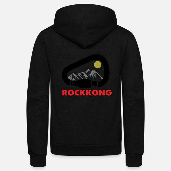 Rock Climbing Hoodies & Sweatshirts - Rockkong forest - Unisex Fleece Zip Hoodie black