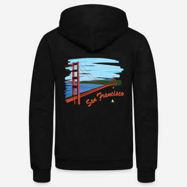 Gate Golden Gate Bridge - Unisex Fleece Zip Hoodie