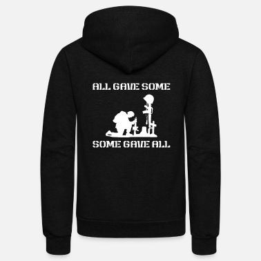 Some Gave All All Gave Some Some Gave All - Unisex Fleece Zip Hoodie