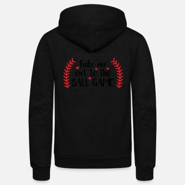 Game Ball Take me out to the ball game - Unisex Fleece Zip Hoodie