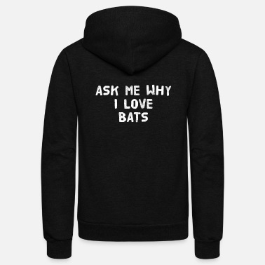 Animal BATS GIFT ANIMAL RIGHTS - Unisex Fleece Zip Hoodie