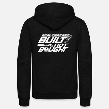 Jdm Car - real cars are built not bought - car guy g - Unisex Fleece Zip Hoodie