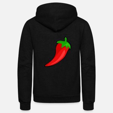 Chilli hot pepper Chilli Pepperoni peppers vegetable farm - Unisex Fleece Zip Hoodie