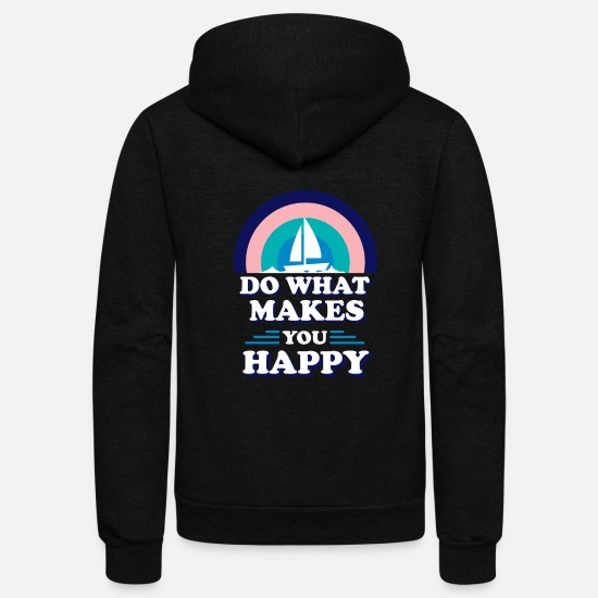 Sailing Hoodies & Sweatshirts - Sailing Sail Funny Gift - Unisex Fleece Zip Hoodie black