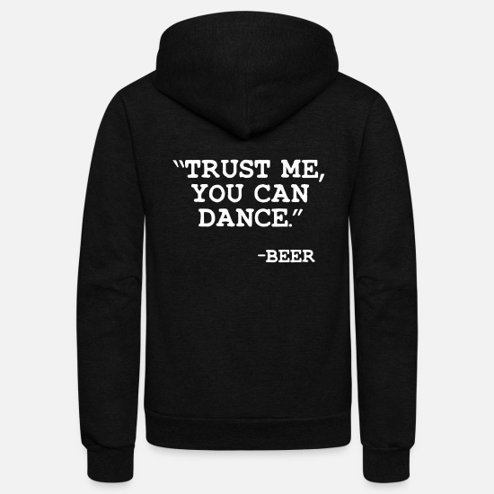 Sayings Hoodies & Sweatshirts - Funny Beer Saying - Unisex Fleece Zip Hoodie black