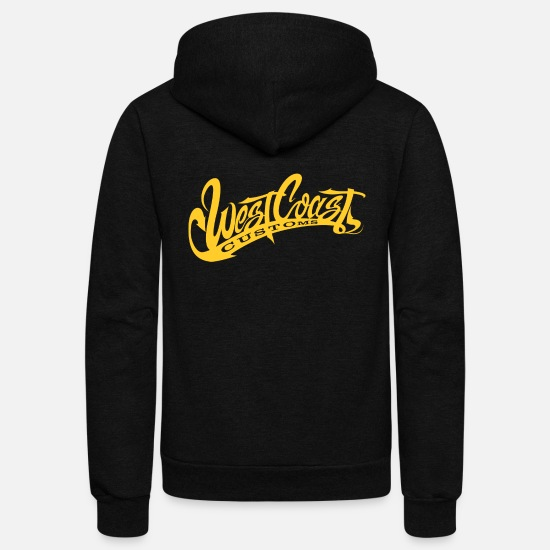 West Coast Hoodies & Sweatshirts - West Coast Customs - Unisex Fleece Zip Hoodie black