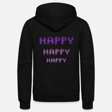 Happiness Happy Happy Happy - by Fanitsa Petrou - Unisex Fleece Zip Hoodie