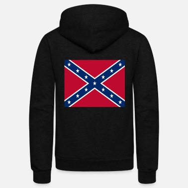 Flag Confederate Flag - Unisex Fleece Zip Hoodie