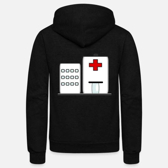 Symbol  Hoodies & Sweatshirts - Hospital Icon - Unisex Fleece Zip Hoodie black
