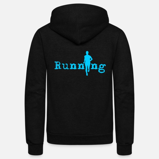 Marathon Hoodies & Sweatshirts - Running - Unisex Fleece Zip Hoodie black