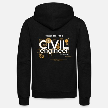 Civil Civil Engineer Shirt - Unisex Fleece Zip Hoodie