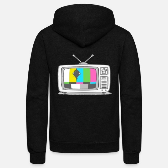 Game Hoodies & Sweatshirts - Watching TV - Unisex Fleece Zip Hoodie black