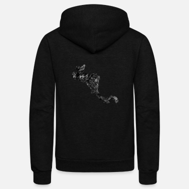Central America Central America map with country borders - Unisex Fleece Zip Hoodie
