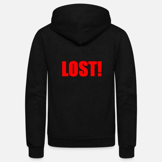 Lost Hoodies & Sweatshirts - LOST - Unisex Fleece Zip Hoodie black