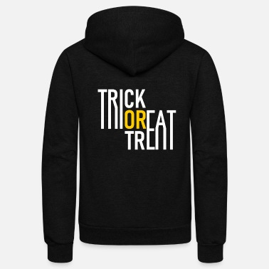Undead Trick or Treat - Halloween - Pumpkin - Zombie - Unisex Fleece Zip Hoodie