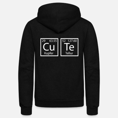 Element of Cute periodic table chemistry gift - Unisex Fleece Zip Hoodie