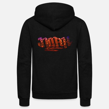 Birth Name Noah Name Design - Unisex Fleece Zip Hoodie