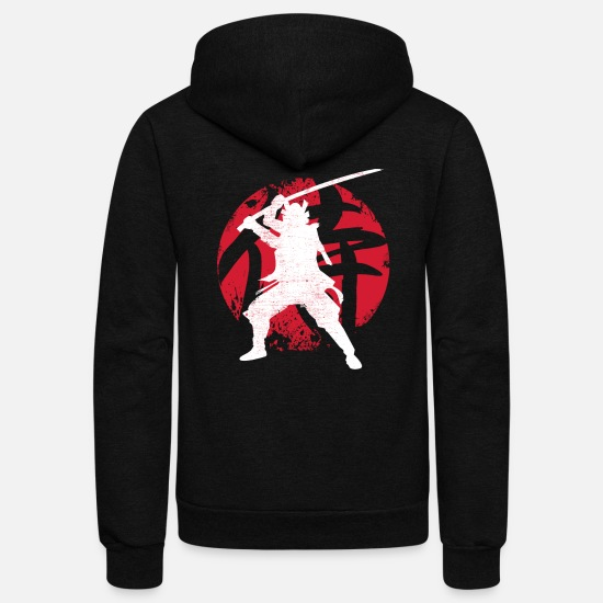 Samurai Hoodies & Sweatshirts - Samurai - Unisex Fleece Zip Hoodie black