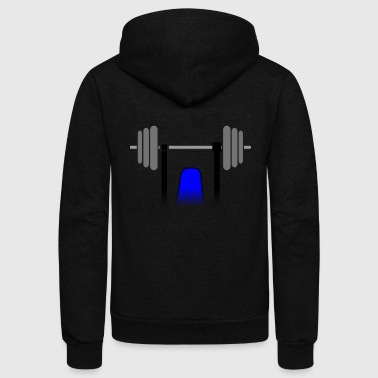 weights - Unisex Fleece Zip Hoodie