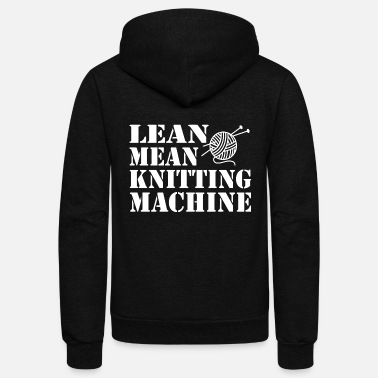 Machine Machine - lean mean knitting machine - Unisex Fleece Zip Hoodie