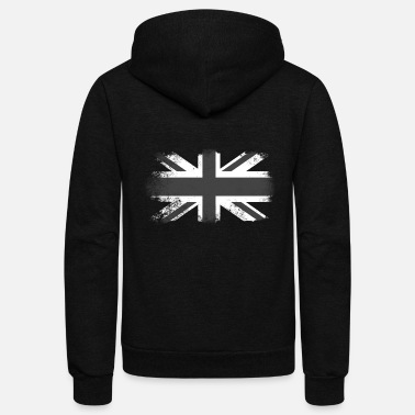 Jack Distressed Union Jack - Unisex Fleece Zip Hoodie