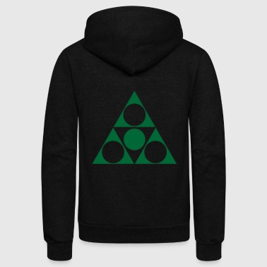 triangle - Unisex Fleece Zip Hoodie