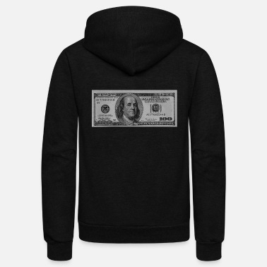 Dollar Hundred Dollar Bill - Unisex Fleece Zip Hoodie