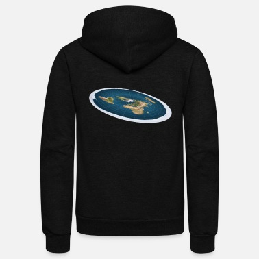 Funny Earth - Flat Planet World - Theory Humor - Unisex Fleece Zip Hoodie