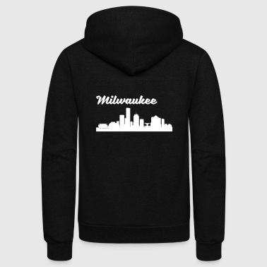 Milwaukee WI Skyline - Unisex Fleece Zip Hoodie