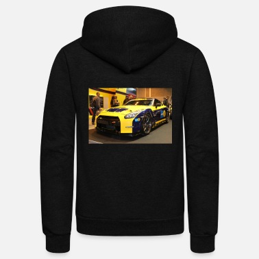 Supercar Nissan Gtr Track Car - Unisex Fleece Zip Hoodie