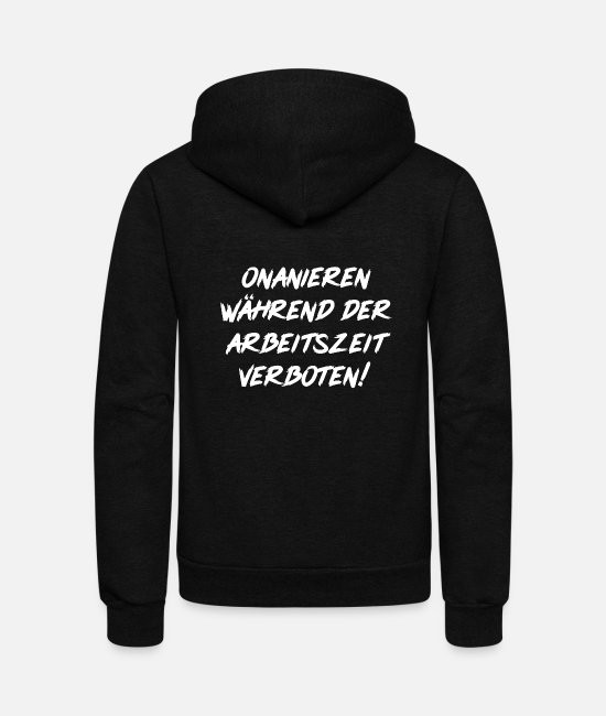 Proud Hoodies & Sweatshirts - Masturbate prohibited during working hours - Unisex Fleece Zip Hoodie black
