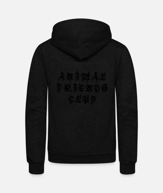 Animal World Hoodies & Sweatshirts - Animal Friends Club - Sayings Statement Gift Ideas - Unisex Fleece Zip Hoodie black