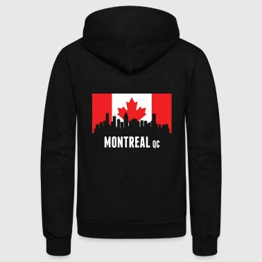 Canadian Flag Montreal Skyline - Unisex Fleece Zip Hoodie