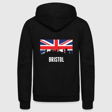 British British Flag Bristol Skyline - Unisex Fleece Zip Hoodie