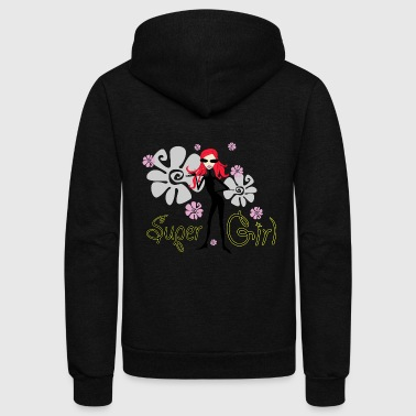 SUPER GIRL - Unisex Fleece Zip Hoodie