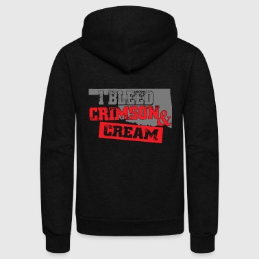 Crimson - i bleed crimson and cream - Unisex Fleece Zip Hoodie