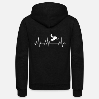 Winter Heartbeat Snowmobile Winter Sports Snow - Unisex Fleece Zip Hoodie