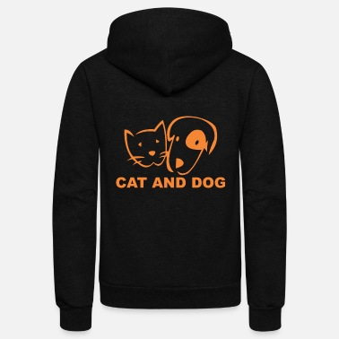 Familiar familiar dogs and cats - Unisex Fleece Zip Hoodie