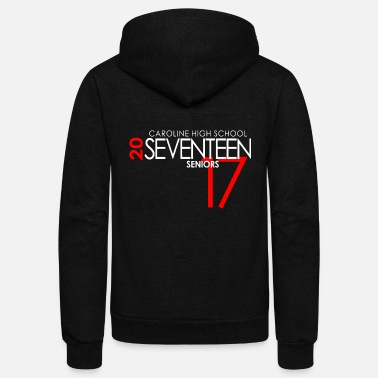 2017 Caroline High School Sixteen 2017 Senior Class - Unisex Fleece Zip Hoodie