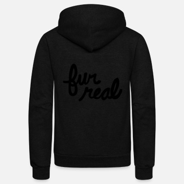 Fur fur real - Unisex Fleece Zip Hoodie