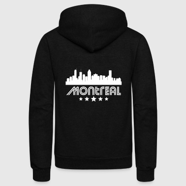 Retro Montreal Skyline - Unisex Fleece Zip Hoodie