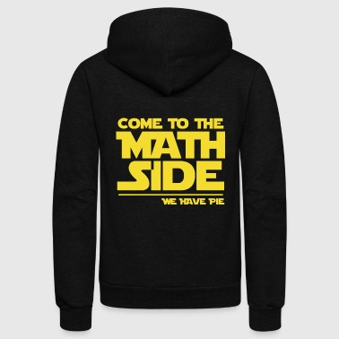 Back Number Clothing Math - come to the math side pie - funny, maths, - Unisex Fleece Zip Hoodie