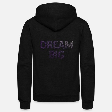 Violet DREAM BIG - VIOLET - Unisex Fleece Zip Hoodie