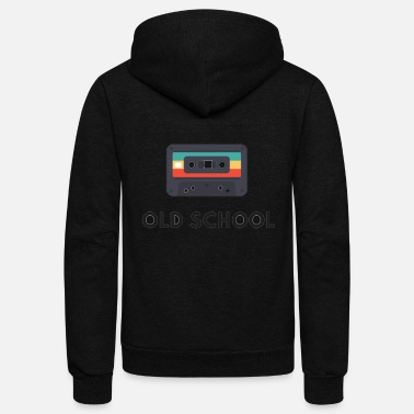 Old School old school casette , old music - Unisex Fleece Zip Hoodie