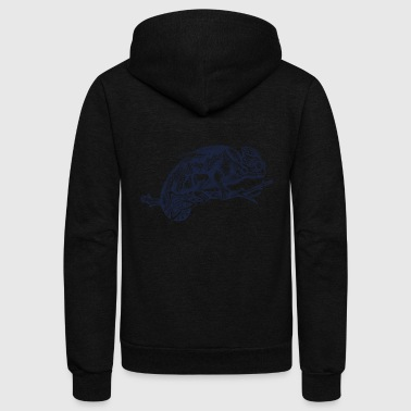 cameleon tatoo - Unisex Fleece Zip Hoodie